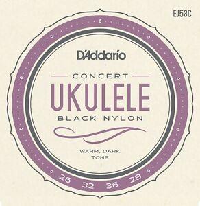 3 Sets D'addario Ej53c Pro Arte Rectified Nylon Hawaiian Concert Ukulele Strings-afficher Le Titre D'origine Demande DéPassant L'Offre