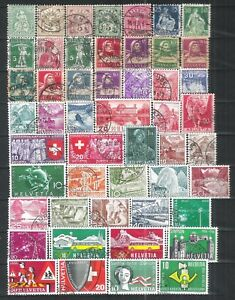 SUISSE-9-PAGES-400TIMBRES-DIFFERENTS-FORTE-COTE-A-SAISIR