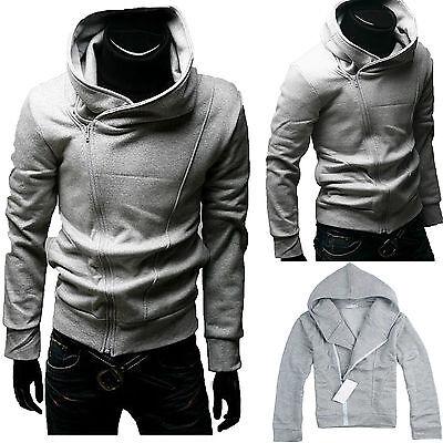 Mens Slim Fit Hooded Sweater Hoodies Winter Warm Jacket Coat Jumper Tops Outwear