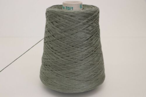 Wolle Linen Lino B34 33,98€//kg 500g PREMIUM LEINEN MOOS GREY 3,25
