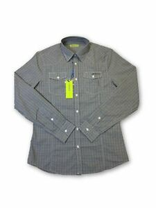 Versace-Jeans-039-Norwich-039-slim-fit-shirt-in-grey-check