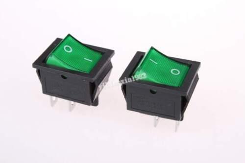 10pcs feu vert lumineux 2 position on//off interrupteur Boat Rocker Switch 15 A 250