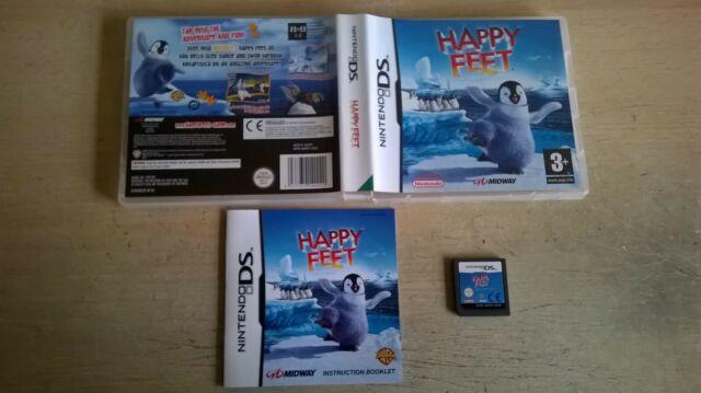 Happy Feet-Bambini Bambine NINTENDO DS gioco/LITE DSi 3DS compatibile-completa in buonissima condizione