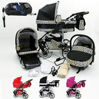 Baby Travel System - Swivel Wheel Pram - Pushchair - Car Seat - Isofix Base