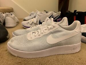 Nike Air Force 1 Flyknit 2.0 White Pure Platinum For Sale
