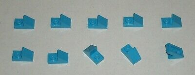Lego 10x Tile Smooth Plate 1x2 Studs in Dark Azure 3069b