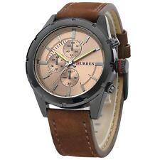 Armbanduhr braun wasserdicht Lederarmband Uhr Herrenarmbanduhr Leder analog