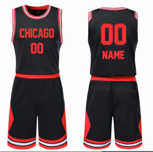 9e24dabf363 CHICAGO - KID BASKETBALL JERSEY W/ SHORT SET CUSTOM PERSONALIZED ...