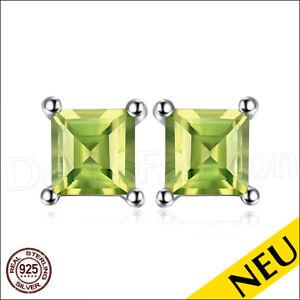 NEU-OHRRINGE-Gruen-PERIDOT-925-Sterling-Silber-Ohrstecker-Rhodiniert-Luxus