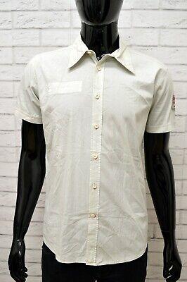 Camicia Uomo Lee Camicetta Taglia L Maglia Shirt Cotone Elastico Manica Corta