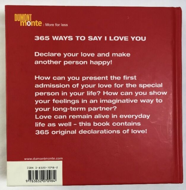 365 Ways to Say I Love You (2002, Hardcover)