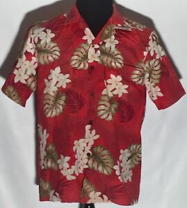 fa3b0bb95 RJC Made in Hawaii Salmon Floral Medium Short Sleeve Button-Front ...