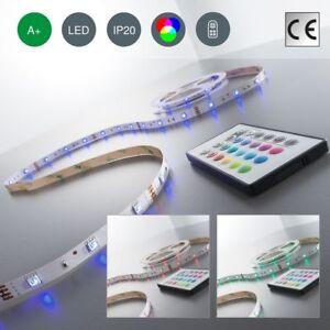 5m-LED-Band-Streifen-RGB-Stripe-Licht-Leiste-5050-SMD-Lichtschlauch-Farbwechsel