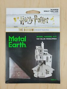 Fascinations-Metal-Earth-The-Burrow-From-Harry-Potter-Laser-Cut-Metal-Model-Kit