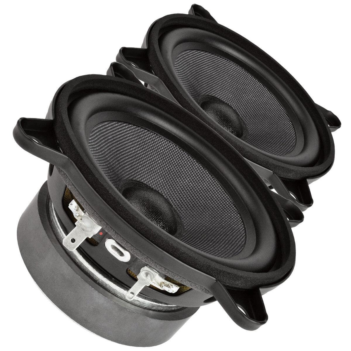 Pair Faital PRO 4FE35 4  Midrange full-range Woofer Speaker 8 ohms 60W 91dB