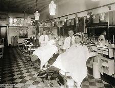 Old Time Barber Shop Vintage Barber Chairs Hair Tonic Bottles Detroit MI CLASSIC