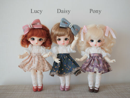 Free Eyes 1//8 Bjd SD Little CutePony Girl Doll With Free Face Make Up