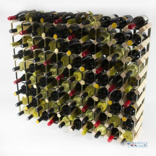 Cranville wine rack storage 90 bottle pine wood and metal wine rack assembled