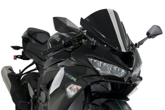 PUIG SCREEN Z-RACING KAWASAKI ZX-6R 636 19-20 BLACK
