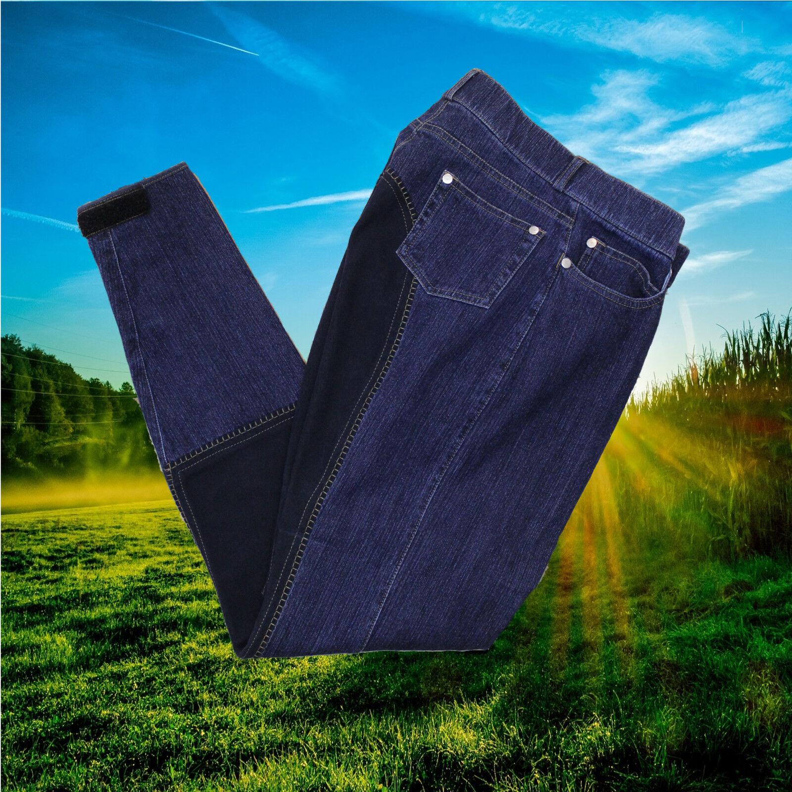 HKM Reithose Jeans, Stiefelreithose, jeans blau, Ganzbesatz, jeans Stiefelreithose, d46310