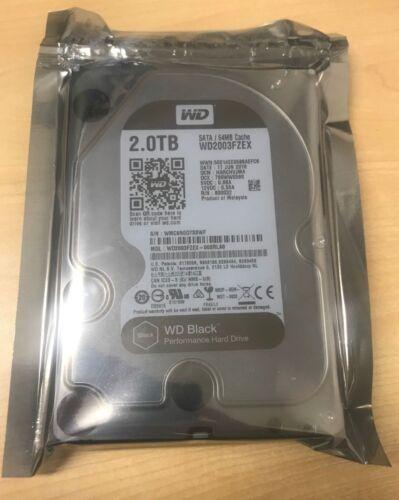 Western Digital WD2003FZEX WD Black 2TB 3.5 Inch SATA III Desktop HDD Hard Drive