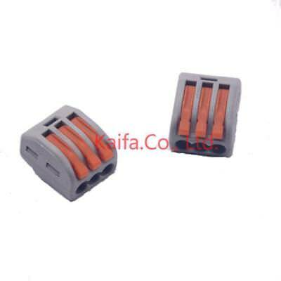 222-413 Universal Compact Wire Wiring Connector 3 Pin 30 Pieces//lot Wago Type