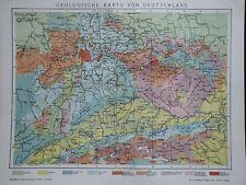 Landkarte, Geologische Karte von Deutschland, Brockhaus 1901-05