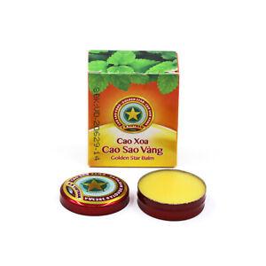 Vietnam Golden Star Balm Cao Sao Vang Vietnamese Balsam Dizziness Pain Relieve
