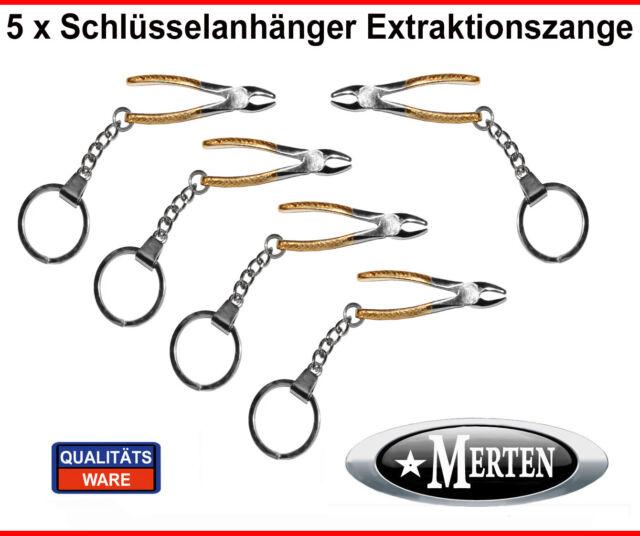 5 Schlüsselanhänger  Extraktionszange  mit  Funktion  Zahnarzt Zahnarzthelferin