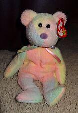 TY Beanie Baby Groovy Bear Soft Pastel Colors Tie Dye PE Pellets 1999 - TH
