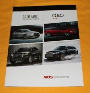 Audi-USA-2018-Prospekt-Brochure-Folder-A3-A4-A5-A6-A7-Q3-Q5-Q7-R8-TT-RS3-RS7