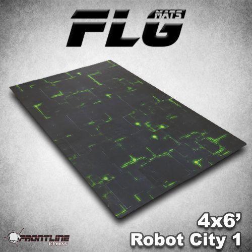 Flg Esteras  ciudad robot 1 6x4' Estera de juegos de mesa de alta calidad de neopreno