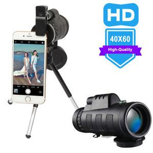 40X60-Zoom-Optical-HD-Lens-Monocular-Telescope-Tripod-Clip-For-Smart-Phone-US