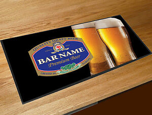 Personalised-blue-beer-glasses-label-bar-runner-Pubs-Clubs-amp-Cocktail-Bars