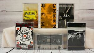 Vintage-Cassette-Tape-Lot-Rock-R-E-M-Red-Hot-Chili-Peppers-U2-Cranberries-x6