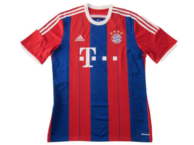 FC Bayern München Maillot Homme GR. L Adidas 2014/2015 F45499 Jersey Shirt Neuf