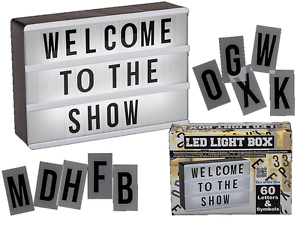 Letter Light Boxes.Details About Illuminated Led Display Board 60 Letters Symbols Gift Plastic Light Box