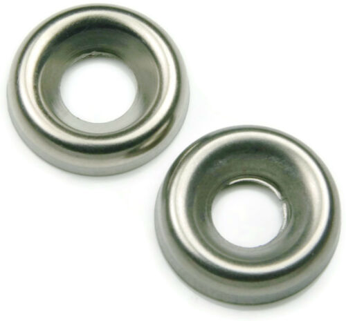 Qty 250 Stainless Steel Finishing Cup Washer 1//4