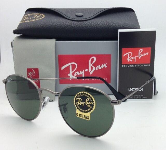 Ray-Ban Authentic Round Gunmetal Sunglasses Green Lenses Rb3447 029 ... dcebd1c00b