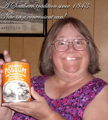 Creamed Possum with Sweet Potatoes Garnished in Coon Fat Gravy