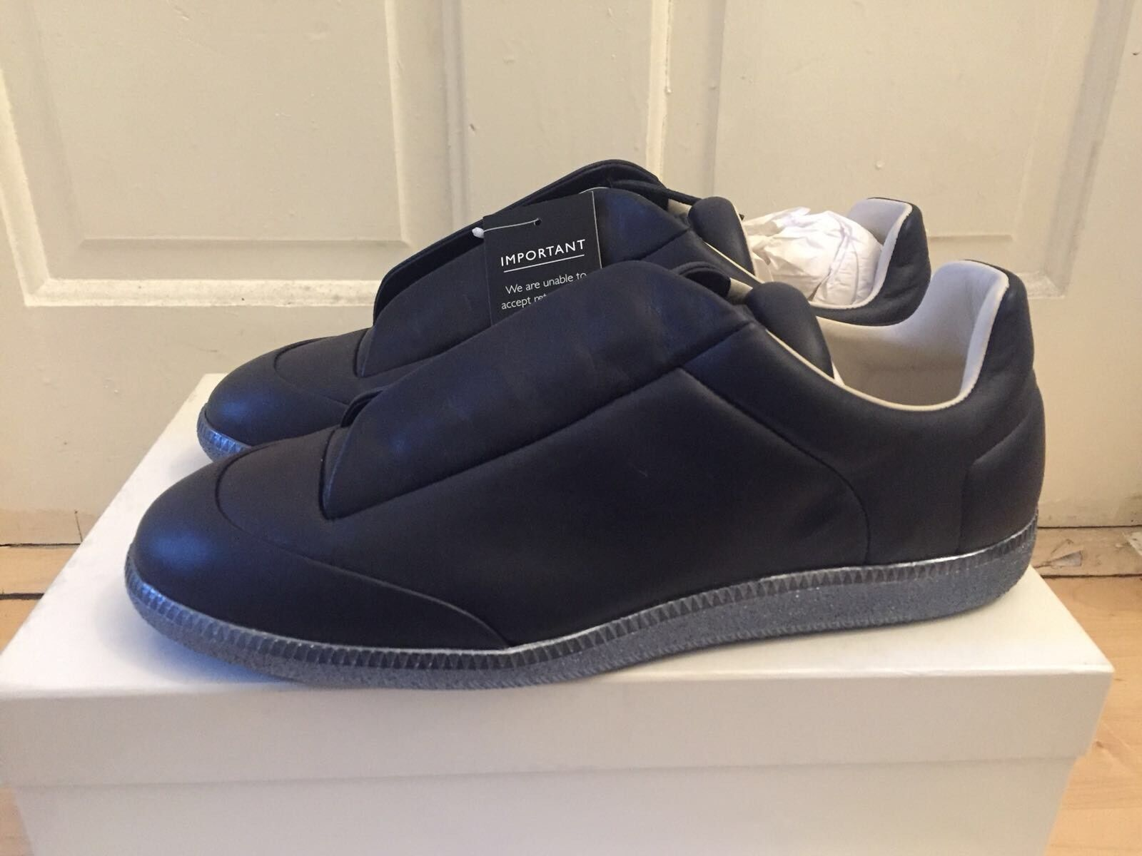 MAISON MARGIELA Navy bluee Future Low Top Trainers
