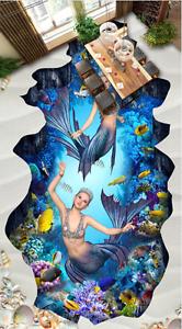 3D ensueño del mar del Coral 74 Impresión De Parojo Murales Papel de parojo de piso AJ Wallpaper Reino Unido Limón