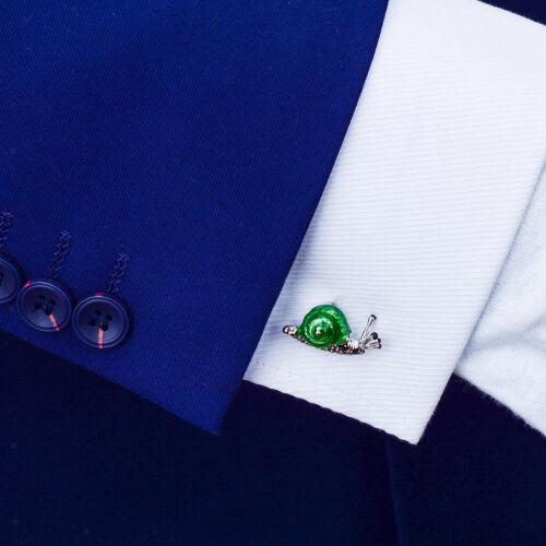 MagiDeal 2 Paar Zarte Grüne Messing Manschettenknöpfe 3D