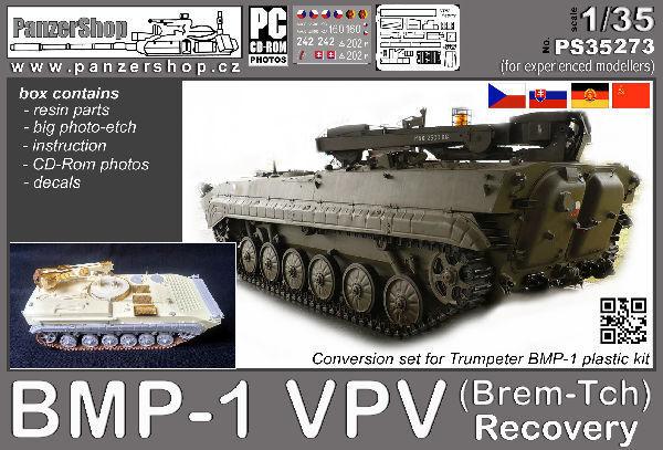 VPV BMP-1 (Brem-Tch) Recovery vehicle resin conversion 1 35 PanzerShop PS35273