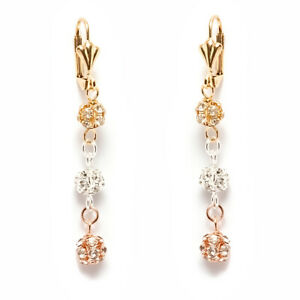 Sevil-18K-3T-Gold-Plated-Round-Drop-Dangling-Earrings-With-Swarovski-Elements