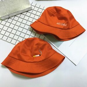 Smoking Cigarette Orange Unisex Summer One Size Hip Hop Bucket Hat ... b07612ba379