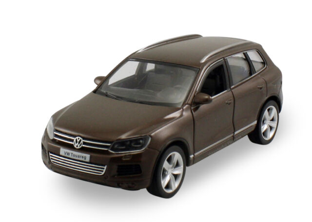 "RMZ Volkswagen Touareg TDI SUV 1:36 scale diecast 5"" model car Brown R23"