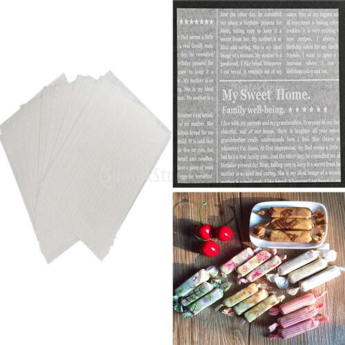 Weihnachten Muster Wachspapier Süßigkeiten Bonbonpapier 50pcs Backpapier