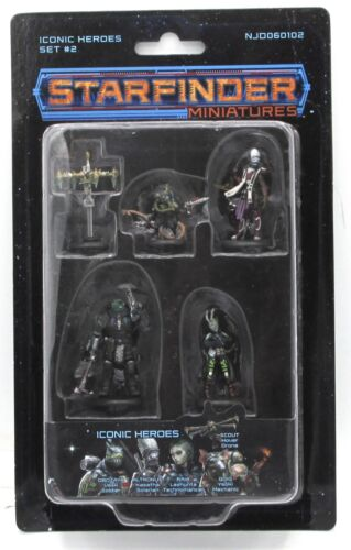 Space Adventurers Starfinder Miniatures NJD060102 Iconic Heroes Set #2 Painted