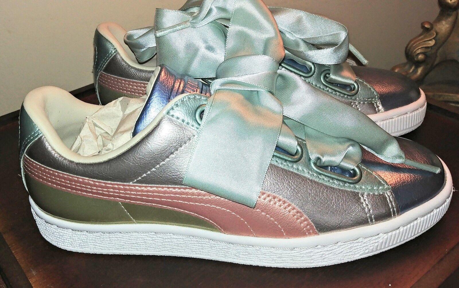 Ven a elegir tu propio estilo deportivo. Puma Cesta corazón Bauble Mujer Zapatillas Con Cordones Metálico Plata Plata Plata 364809 01 U33  garantía de crédito